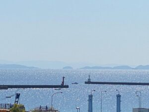 今日も晴天☀️の淡路島でした❣️ 昼間は、海がキラキラ✨輝いて綺麗でした💖